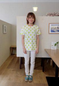 新商品の「半吉さん」Tシャツです。