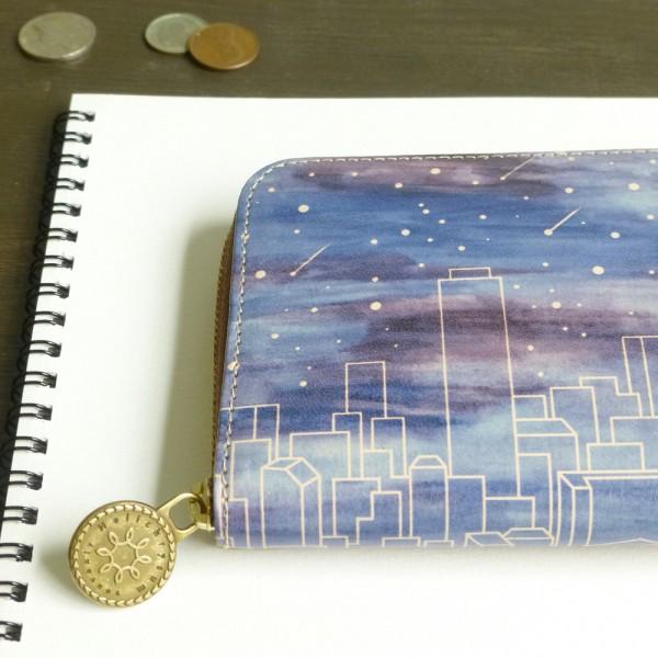 アートなレザーの財布